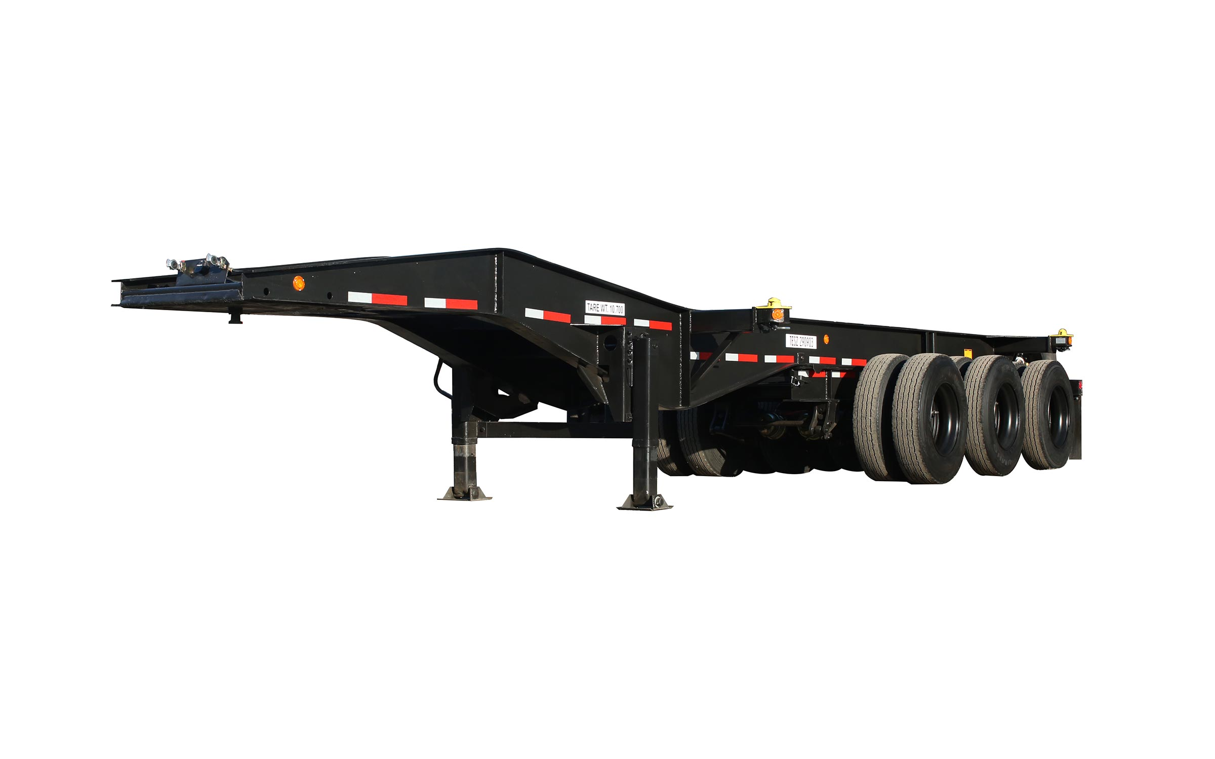 3 wheel 23 foot chassis from the front