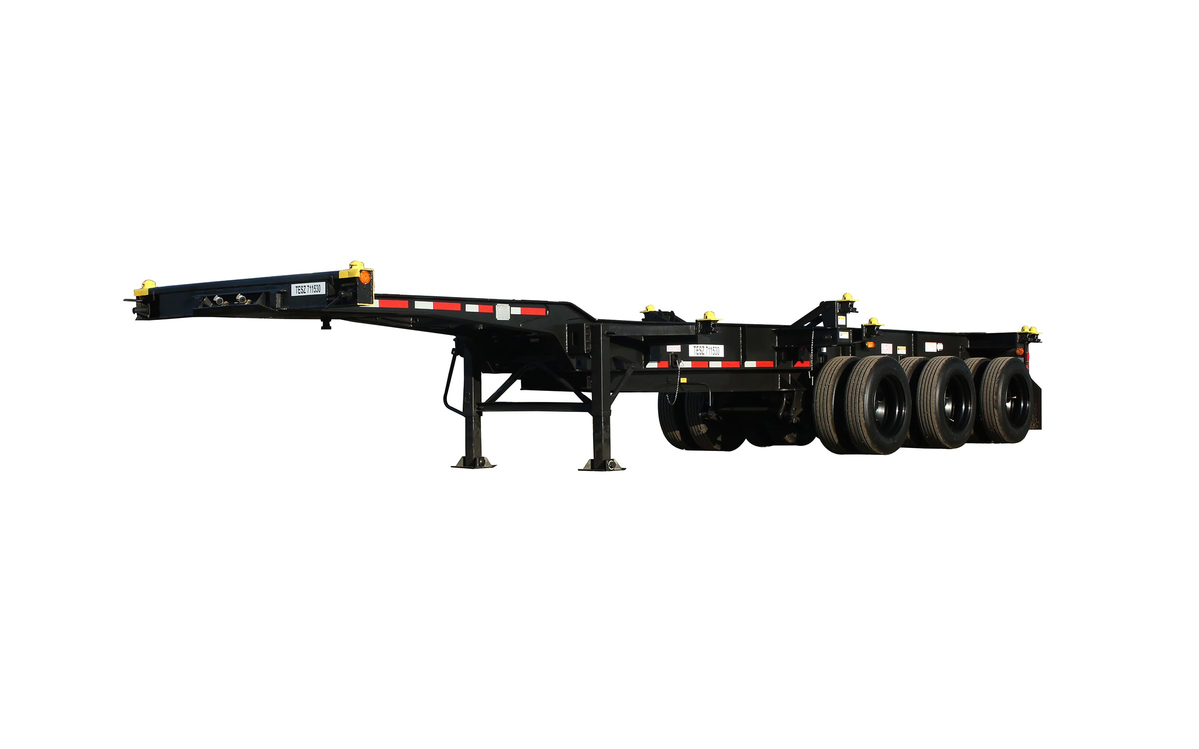anysizer tri-axle chassis from the front